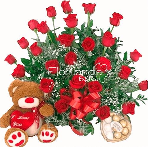 Imagen de Flores a Domicilio Encanto - Ramo de rosa a domicilio en Floristería Bogotá Florilandia Express