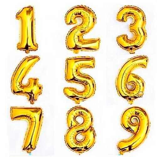 Imagen de Peluches, regalos y Números Metalizados dorados - floristería a domicilio Florilandia Express