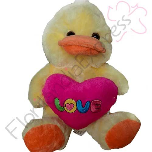 Imagen de Peluche de pato y regalos a domicilio en floristería florilandia express
