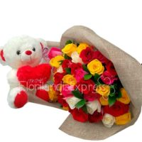 Imagen ramos de flores a domicilio Bouquet de Rosas a domicilio Happy Florilandia Colombia