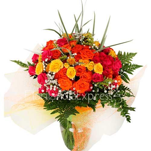 Imagen Ramo de Mini rosas solecito a domicilio mini rosas florilandia colombia