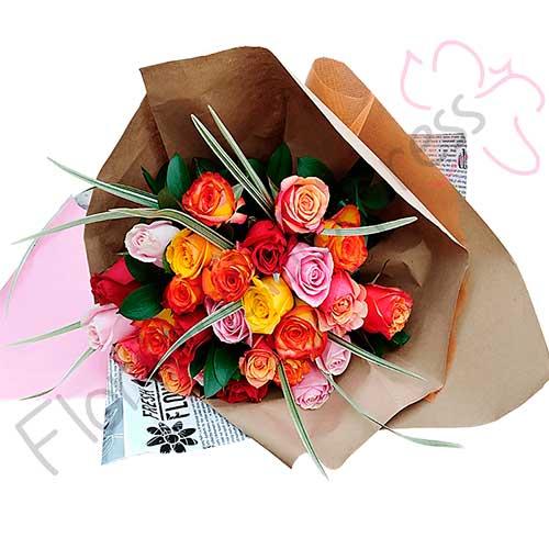 Imagen Bouquet de Rosas de Colores Pereira - ramos de flores a domicilio rosas amman Florilandia Express Floristería Colombia
