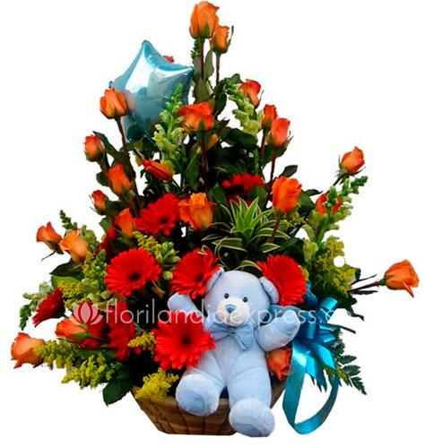 Imagen de Regalo para bebé Bambi Floristería Florilandia Express - Flores para nacimiento