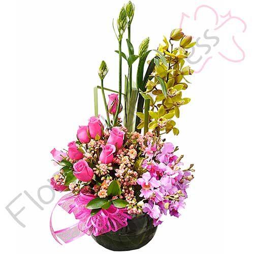 Imagen regalos de aniversario Arreglo con Orquídeas Candy flores a domicilio florilandia express