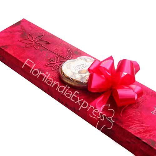 Imagen Caja de Rosas a Domicilio Mónaco - Floristería a domicilio Florilandia
