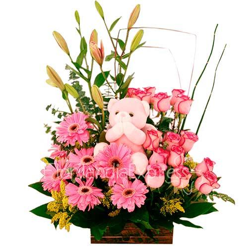 Imagen Regalos para nacimientos - Arreglo Floral Angelus - Floristería a domicilio Florilandia