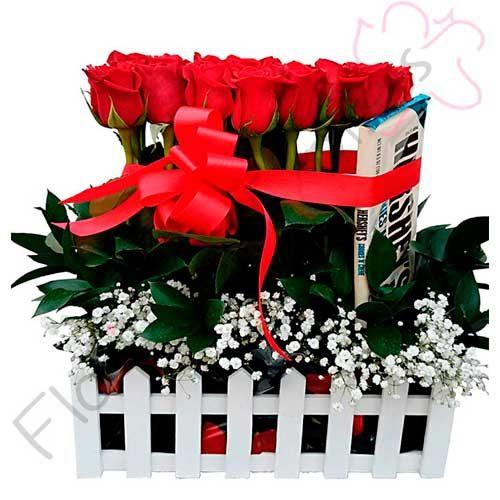 Imagen maceta Jardinera de Rosas a Domicilio Grecia - Floristería a domicilio Florilandia