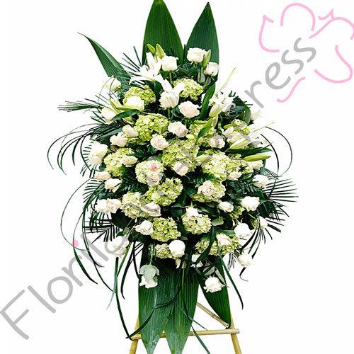 Imagen de Atril Fúnebre Gabriel - Floristerías Florilandia Express - Arreglos fúnebres a domicilio