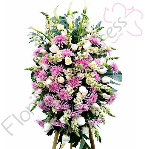 Imagen de Atril Fúnebre a domicilio Ave María - Arreglos fúnebres - Floristerías Florilandia Express