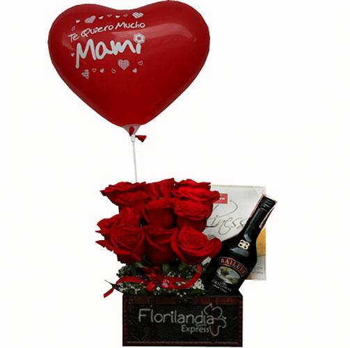 Imagen de Cofre de Rosas amor a domicilio en Bogotá Floristerías Florilandia Express Colombia