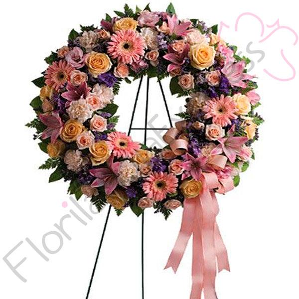Imagen de Corona Fúnebre a domicilio Isaias - Flores fúnebres - Florilandia Express Colombia