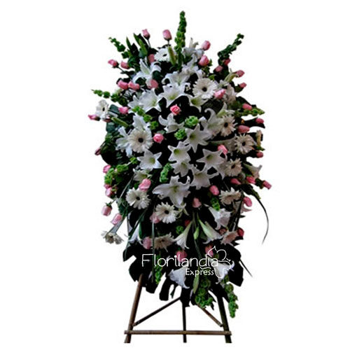 Imagen de Ramo fúnebre a domicilio Lourdes - floristería florilandia express Colombia