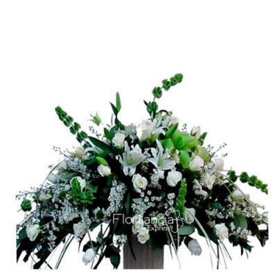 Imagen de Ramo fúnebre ave María - Arreglos fúnebres a domicilio - Floristerías Florilandia Express