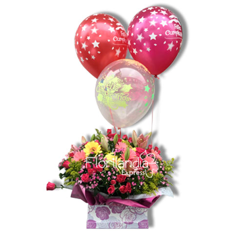 Imagen de Caja de flores aromas de verano - Florilandia Express Floristería Bogotá