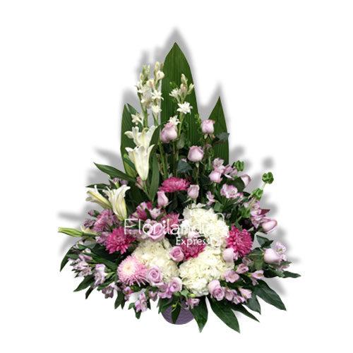 Imagen de Ramo fúnebre de condolencias Ave María - Floristería Florilandia Express Bogotá