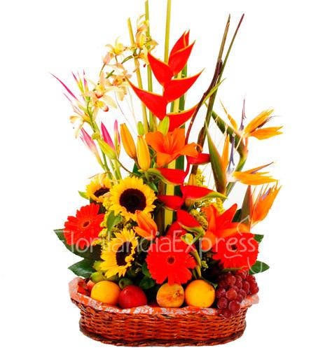 Canastas De Frutas Y Flores A Domicilio Florilandia Express Floristeria