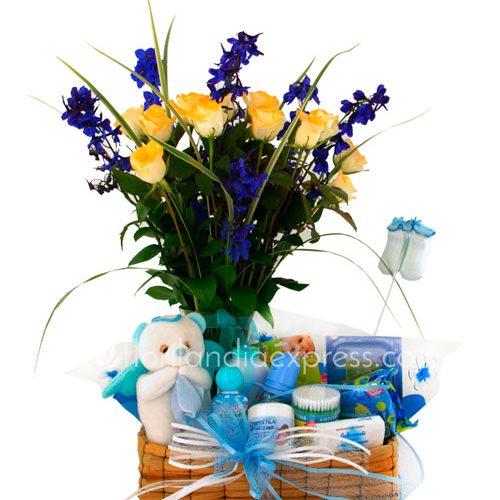 Imagen de Ramos para recién nacido azulei floristería Florilandia Express