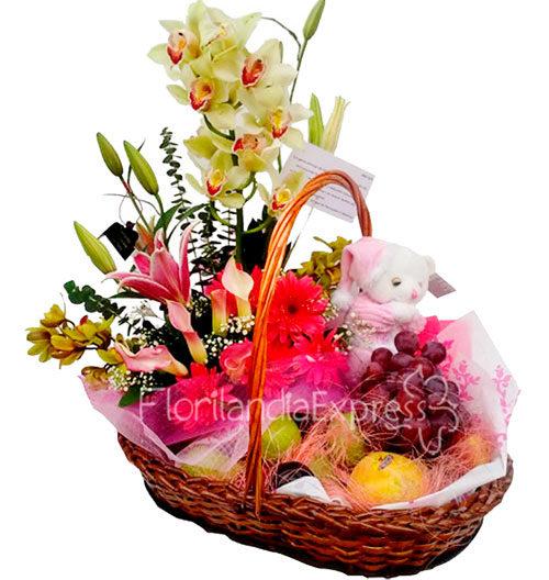 imagen de Regalo para bebé dulce bendición - Flores a domicilio de felicitaciones por nacimiento - Floristería Bogotá Florilandia Express